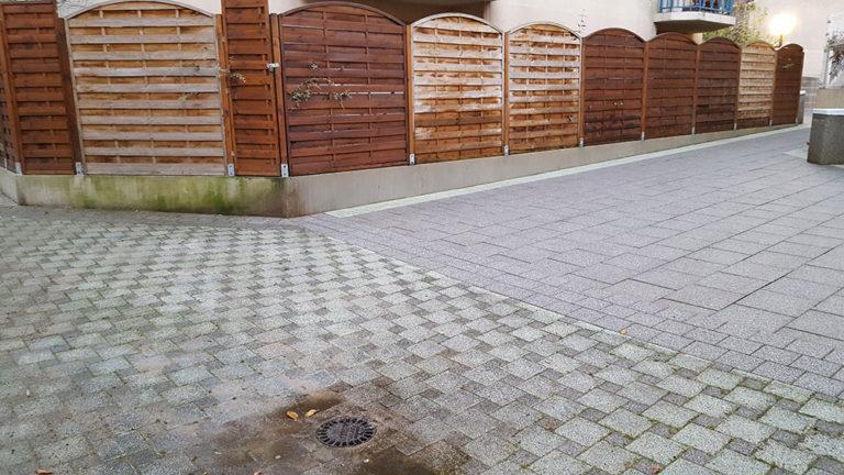 lavage haute pression de clôtures en bois