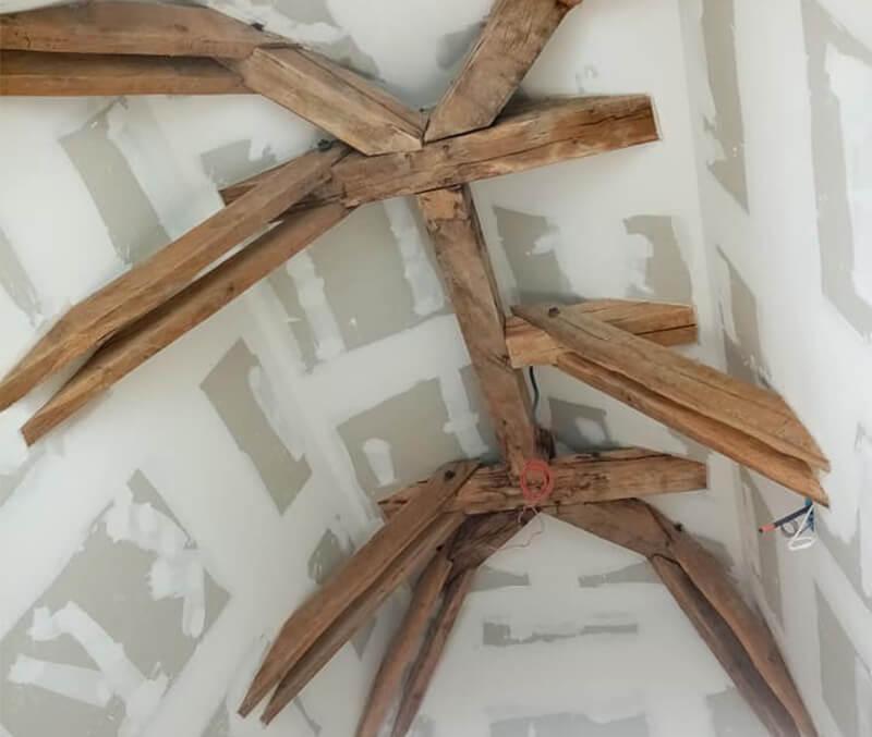 Poutres araignées propre après aérogommage